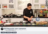 Fetuccini con camarón