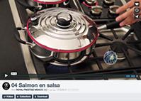 Salmón en salsa
